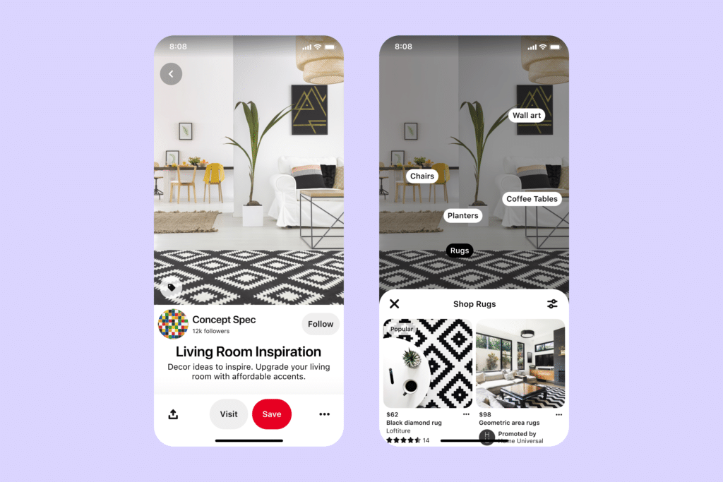 Pinterest for eCommerce:Idea pin product tagging