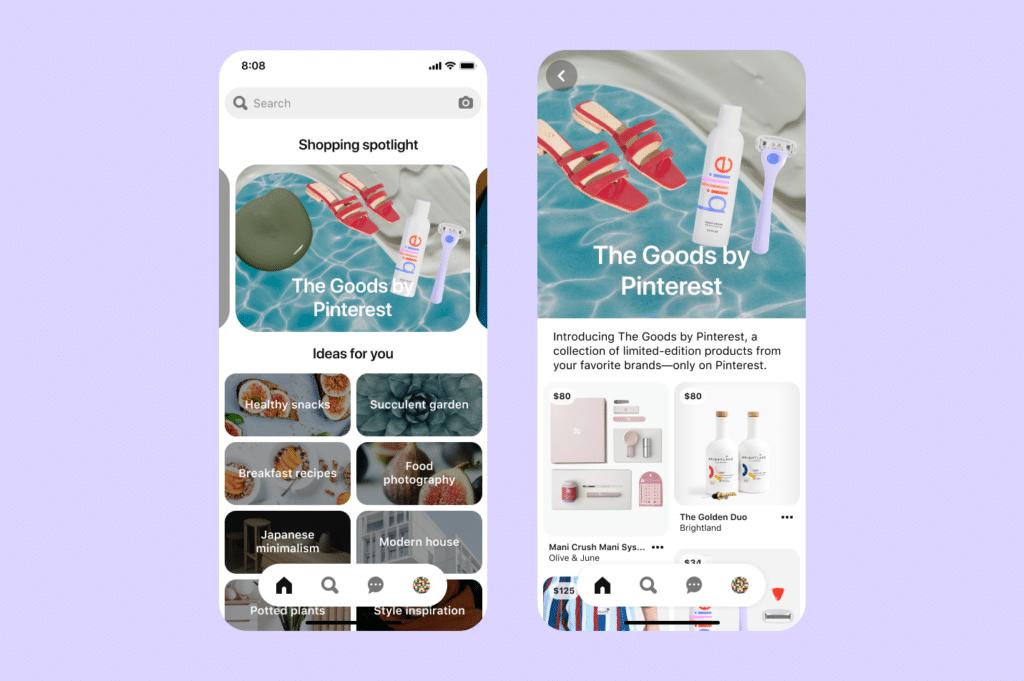 pinterest for eCommerce: Shopping spotlight mobile
